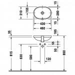 Duravit Foster iš apačios montuojamas praustuvas 430x280 mm
