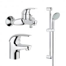 Grohe Euroeco vonios maišytuvų komplektas , chromas