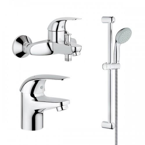 Grohe Euroeco vonios maišytuvų komplektas , chromas-voniosguru.lt