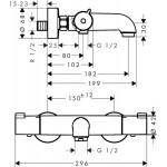 Hansgrohe termostatas maišytuvas voniai Ecostat CL-voniosguru.lt