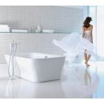 Hansgrohe PuraVida vonios maišytuvas iš grindų su potinkine dalimi  15473000 + 10452180