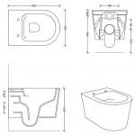 Pakabinamas klozetas Alice Ceramica Form Square Rimless 500x350