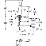 Grohe Eurodisc Joystick praustuvo maišytuvas M-dydis, chromas-voniosguru.lt