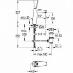 Grohe Eurodisc Joystick praustuvo maišytuvas M-dydis, baltas-voniosguru.lt