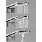 Raindance Select E 120 3jet dušo galva su laikikliu ir žarna 1.60 m, chromas-voniosguru.lt