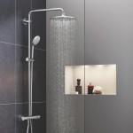 Termostatinė dušo sistema su rankiniu dušeliu Grohe Euphoria 110  su masažinio lietaus funkcija, chromas-voniosguru.lt