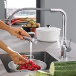 Grohe Essence virtuvinis maišytuvas su ištraukiamu dušiuku, chromas-voniosguru.lt