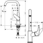 Praustuvo maišytuvas Hansgrohe Focus 31519000-voniosguru.lt