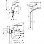 Maišytuvų komplektas Hansgrohe Focus E2 31934000 31730000 + 3194000 + 27763000-voniosguru.lt