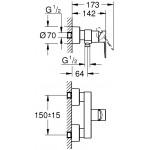 Grohe Lineare dušo maišytuvas 33865001-voniosguru.lt