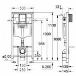 Grohe Rapid SL WC rėmas su tvirtinimais 1,13 m 38536001-voniosguru.lt