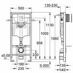 WC koplektas Grohe Rapid SL 3in1 su mygtuku Skate Air 38722001-voniosguru.lt