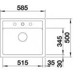 Akmens masės plautuvė Blanco Legra 6 58,5 x 50cm (spalvų pasirinkimas)