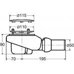 Viega Tempoplex Plus sifonas dušo padėklui 578916-voniosguru.lt