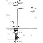 Praustuvo maišytuvas Hansgrohe Talis E, 71716000-voniosguru.lt