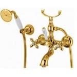 Bugnatese Princeton Plus maišytuvas voniai su dušo galvute spalvų pasirinkimas chromas, bronza, auksas-voniosguru.lt