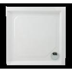 Akmens masės dušo padėklas Classic 1000x1000 mm su apdaila ir kojomis-voniosguru.lt
