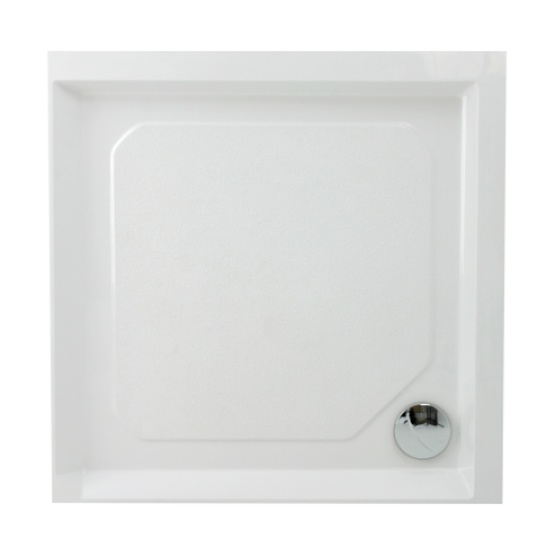 Akmens masės PAA Classic dušo padėklas, 900x900 mm, su paneliu ir kojomis-voniosguru.lt