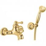 Bugnatese Maya maišytuvas voniai su dušo galvute spalvų pasirinkimas chromas, bronza, auksas-voniosguru.lt