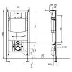Potinkinis WC rėmas Viconnect  92246100-voniosguru.lt