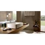 Roca Inspira Square pastatomas praustuvas, 500x370 mm, baltas su danga Fineceramic®-voniosguru.lt