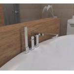 Deante Cubic maišytuvas iš vonios krašto chromas