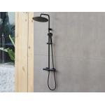 Virštinkinė dušo sistema Sanycces Indo juoda matinė