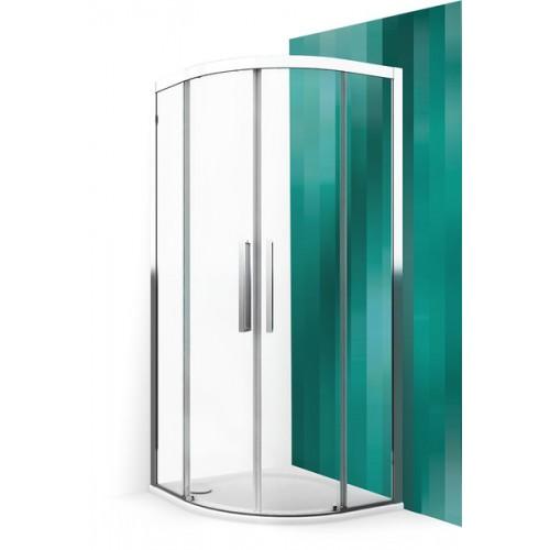 Roltechnik pusapvalė dušo kabina su slankiojančiomis durimis ECR2N