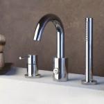Maišytuvas voniai iš vonios krašto Guglielmi SPRINT , spalvų pasirinkimas chromas, juoda, balta, nikelis