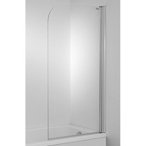 Jika Cubito vonios sienelė 75x140cm, chromas/persišviečiantis stiklas-voniosguru.lt