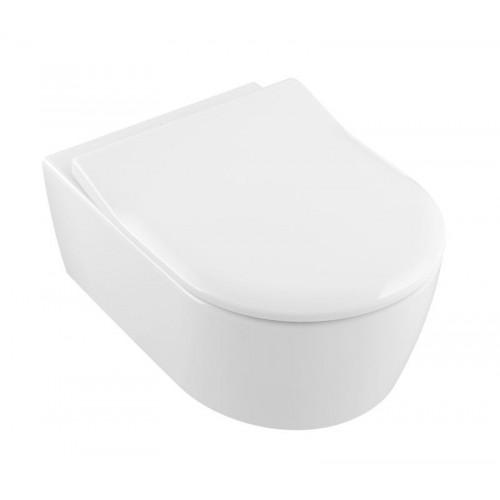 Pakabinamas klozetas  Villeroy & Bosh  Avento Direct Flush  ir su lėtaeigiu dangčiu-voniosguru.lt