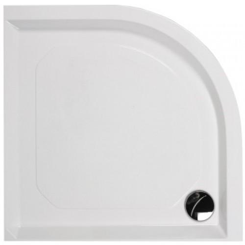 Akmens masės pusapvalis PAA Classic dušo padėklas, 900x900 mm, su paneliu ir kojomis-voniosguru.lt