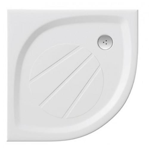 Ravak Elipso Pro dušo padėklas pusiau apvalus iš lieto marmuro 80x80 cm-voniosguru.lt