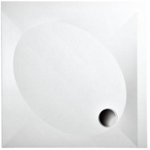 Padėklas 90x90 cm, su apdaila, kvadratinis, baltas-voniosguru.lt