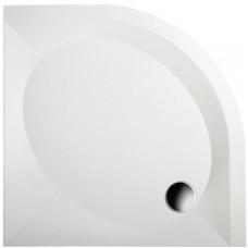 Akmens masės PAA ART dušo padėklas 100x100 cm su paneliu ir kojelėmis