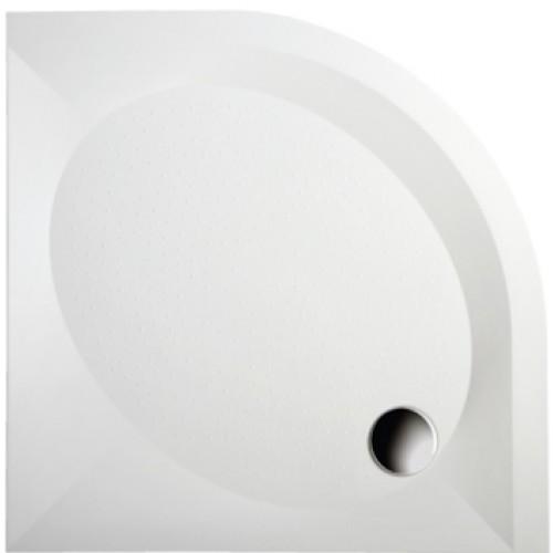 Akmens masės PAA ART dušo padėklas 100x100 cm su paneliu ir kojelėmis-voniosguru.lt
