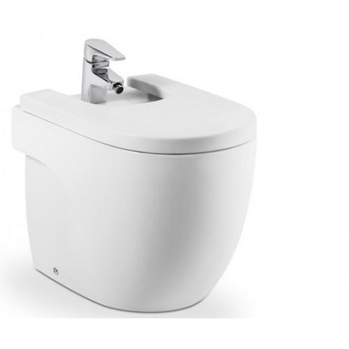 Meridian Compact bidė, tvirtinamas prie grindų, baltas-voniosguru.lt