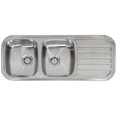 Reginox dviejų dubenų nerūdijančio plieno virtuvės plautvė Regent 30 lux 1190x480 mm