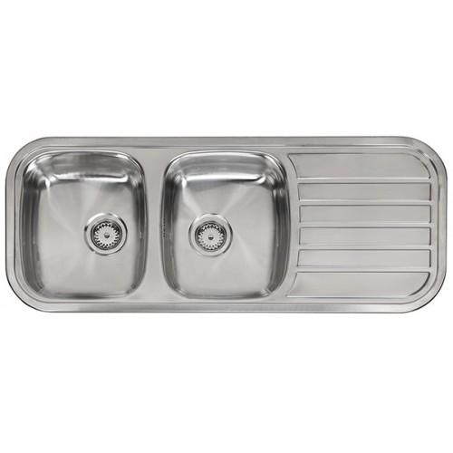 Reginox nerūdijančio plieno virtuvės plautvė Regent 30 lux 1190x480 mm-voniosguru.lt