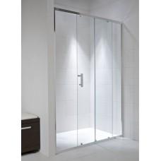 Jika CUBITO dušo durys (stumdomos) stiklas arktinis, chromas