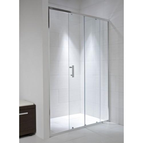 Jika CUBITO dušo durys (stumdomos) stiklas arktinis, chromas-voniosguru.lt