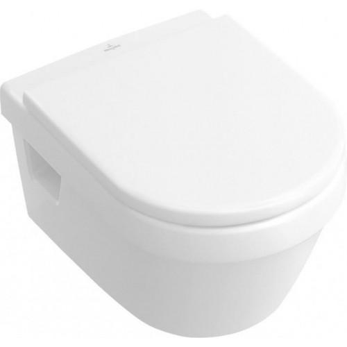 Pakabinamas klozetas Villeroy&Boch Architectura rimless (be nuplovimo lanko) su DirectFlush ir su soft close dangčiu-voniosguru.lt