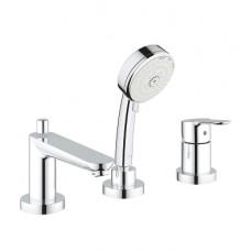 GROHE BauEdge vonios 3 skylių maišytuvas montuojamas į vonios kraštą, chromas