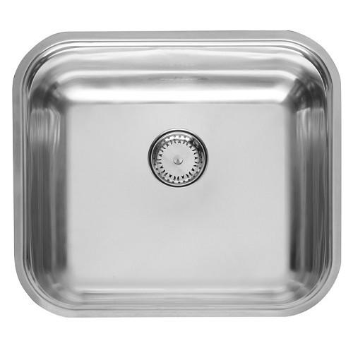 Reginox Colorado Comfort RP, virtuvinė plautvė su ventiliu, 44,5 x 39,3 x 16 cm, Nerūdijančio plieno-voniosguru.lt