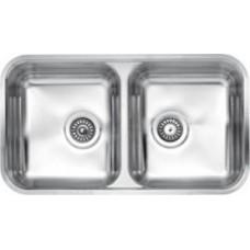 Reginox dviejų dubenų virtuvės plautuvė Halifax nerūdijančio plieno