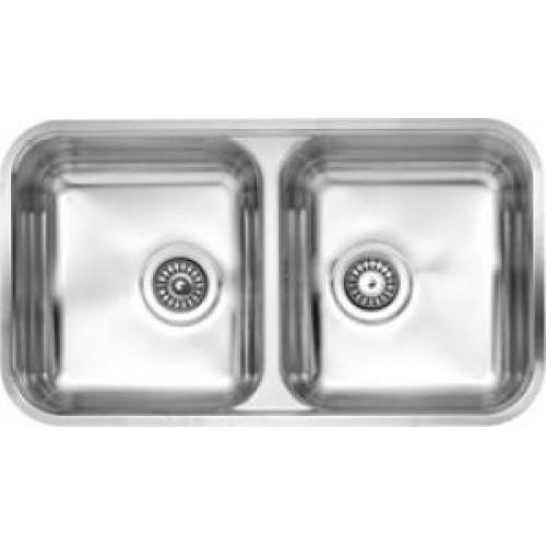 Reginox dviejų dubenų virtuvės plautuvė Halifax nerūdijančio plieno-voniosguru.lt