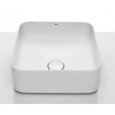 Roca Inspira Square pastatomas  praustuvas, 370x370 mm, baltas su danga Fineceramic®