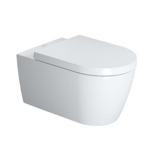 ME by Starck Rimless, unitazas tvirtinamas prie sienos, 370x570 mm, su SC sėdyne, Durafix, baltas-voniosguru.lt
