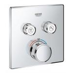 Grohe Grohtherm SmartControl potinkinis termostatinis maišytuvas 2 krypčių išbėgimas su potinkine dalimi-voniosguru.lt