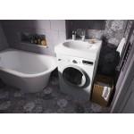 PAA Praustuvas statomas ant skalbimo mašinos Claro, 600x600 mm, su tvirtinimais, baltas-voniosguru.lt